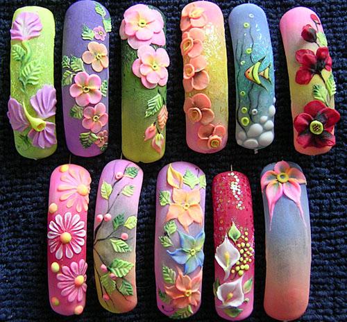 Ногти дизайн лепка картинки