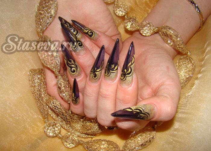 Ногти акриловые дизайн 2017