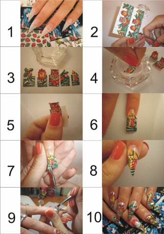 Как правильно клеить слайдеры на ногти