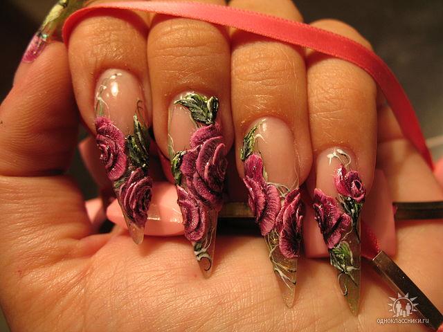 Дизайн на ногтях с лепкой фото